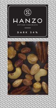 Horká čokoláda s orechami
