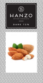 Horká čokoláda s praženými mandľami